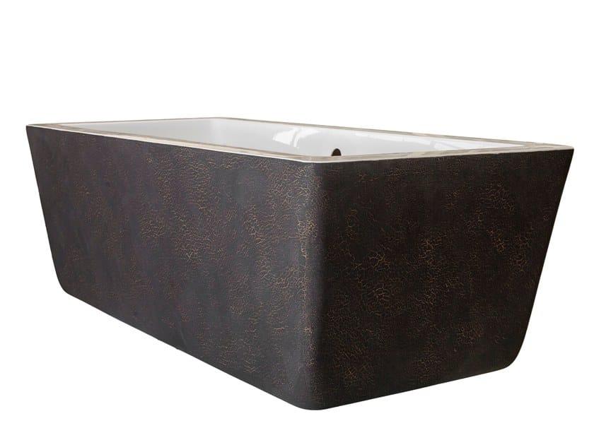 Freestanding rectangular bathtub SKIN EFFECT 100 by Saikallys