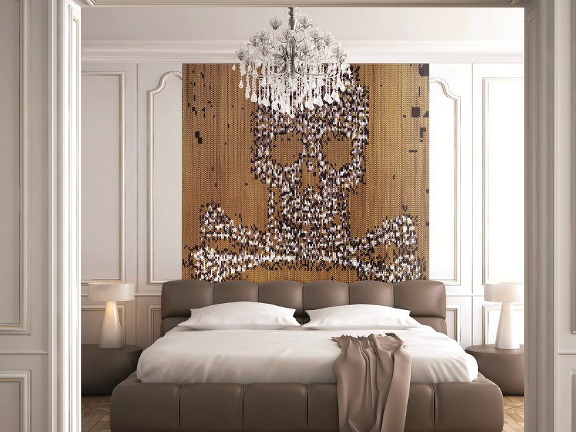 Aluminium chain curtain SKULL & BONES by Kriskadecor
