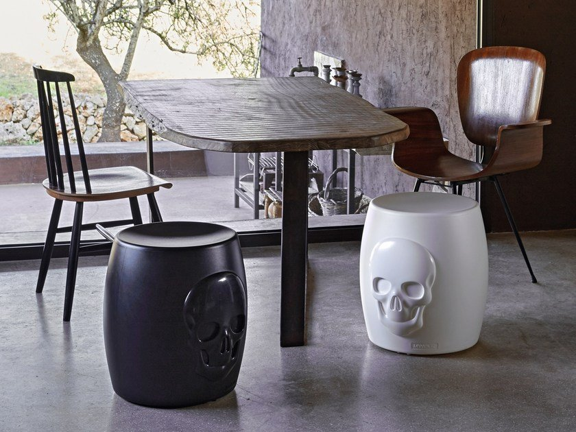 Poleasy® stool / coffee table SKULL by Myyour