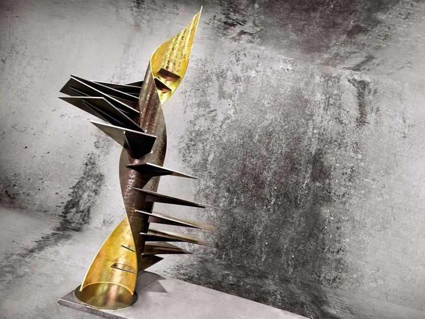 Scala a chiocciola elicoidale in ferro SKULPTURA by Officine Sandrini