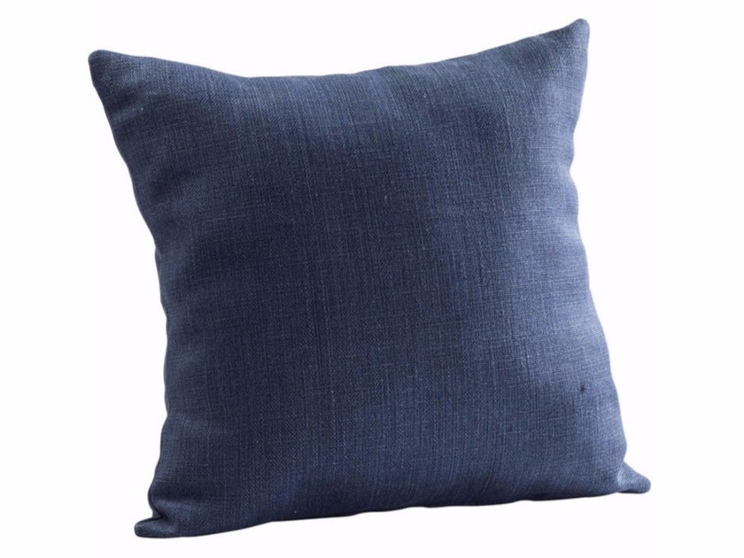 Square polyester cushion SKY BLUE by KARE-DESIGN