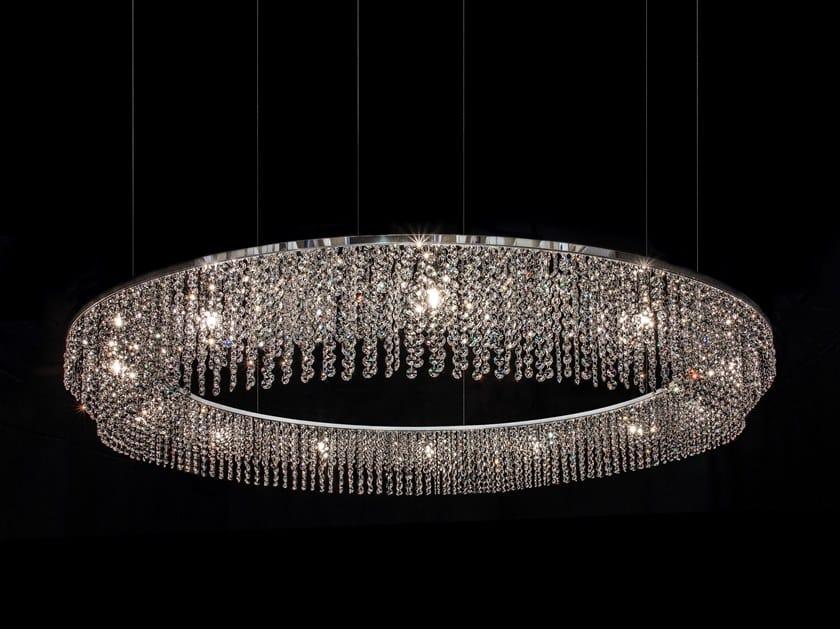 Ilfari Round Sospensione Lampada Diretta Cycles In Metallo Sky Cristalli Con H17 A Luce ZiOwTuPkX