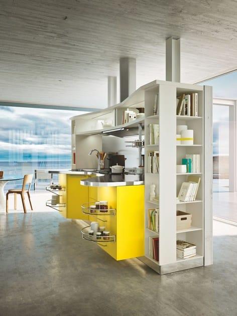 Cucina laccata con maniglie SKYLINE 2.0   Cucina con isola - Snaidero