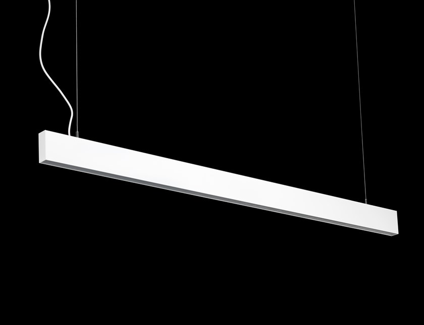 Powder coated aluminium Linear lighting profile for downlights SKYLINE AIR by LUNOO