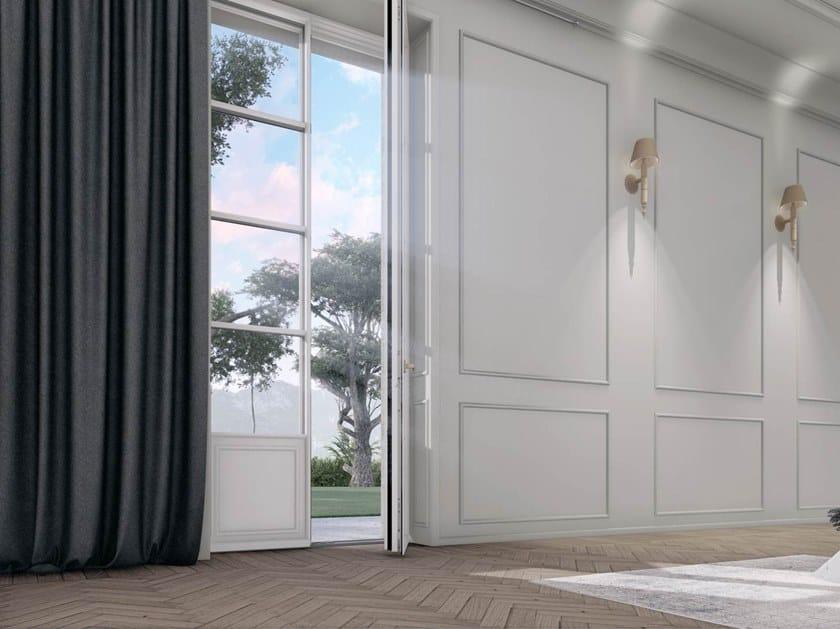 Wooden patio door SKYLINE CLASSIC by CARMINATI SERRAMENTI