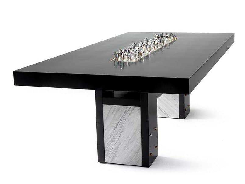 Rectangular table SKYLINE by Porustudio