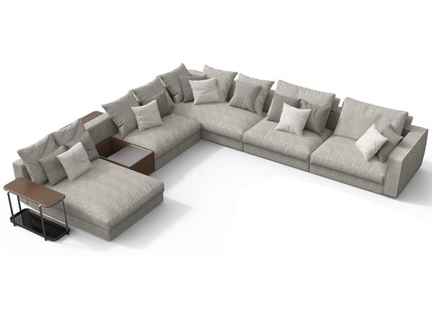 Corner modular fabric sofa with chaise longue SKYLINE | Sectional sofa by GIORGETTI