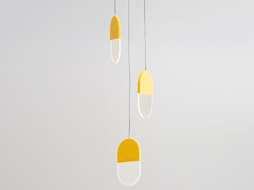 LED felt pendant lamp SLAB 20.3 by ANDlight