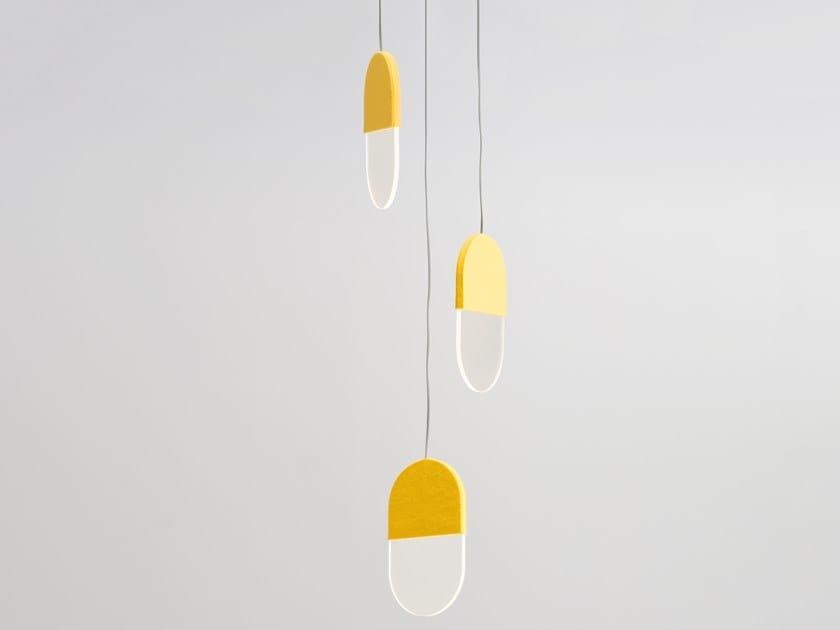LED felt pendant lamp SLAB 20.3 by ANDlight