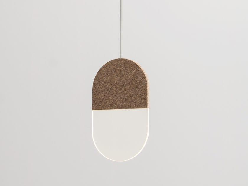 LED felt pendant lamp SLAB 20 by ANDlight