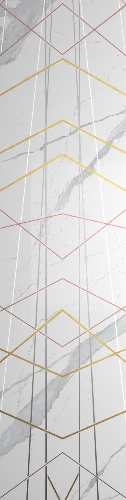 Statuario White Polished Diamond Decor