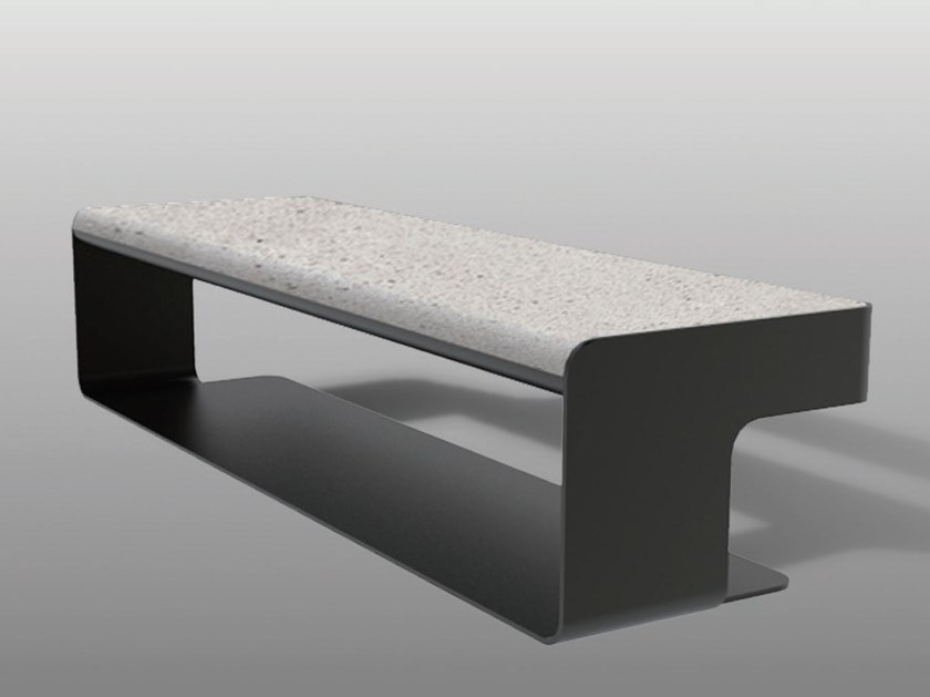 Contemporary style backless plate Bench SLALOM B by Manufatti Viscio
