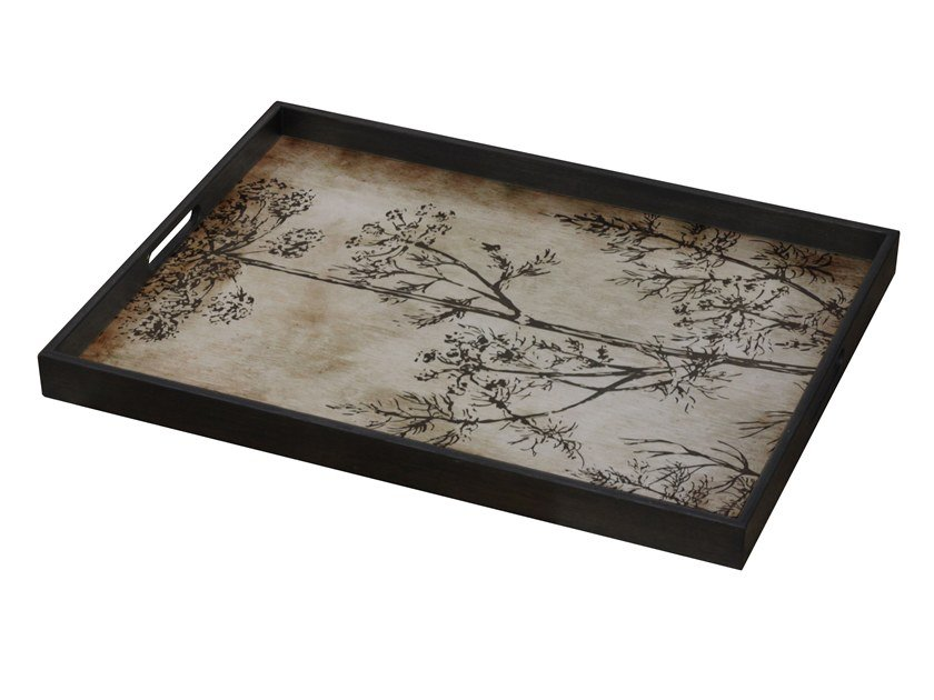 Rectangular glass tray SLATE DILL by Notre Monde