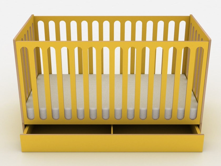 Lacquered cot with storage space SLEEP by dearkids