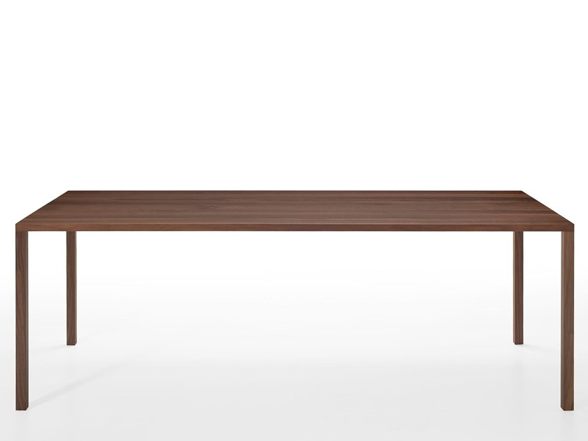 Rectangular solid wood dining table SLIC by more
