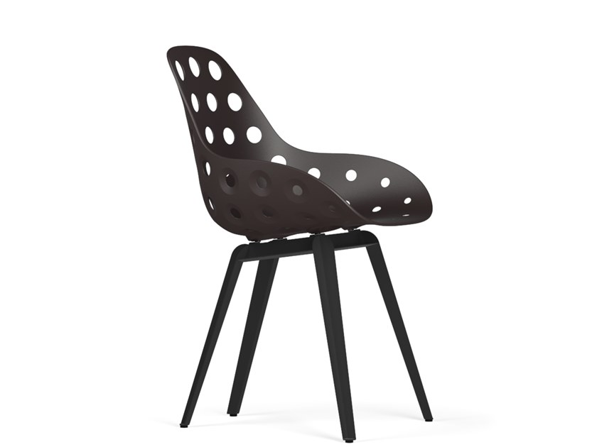 Polypropylene chair SLICE DIMPLE by KUBIKOFF
