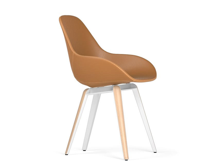 Upholstered chair SLICE DIMPLE TAILORED by KUBIKOFF