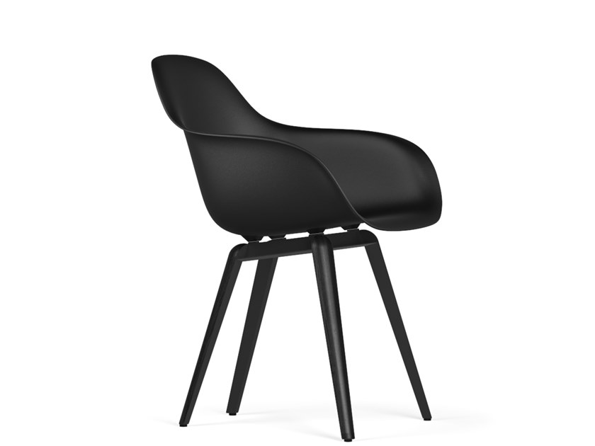 Polypropylene chair with armrests SLICE V9 | Chair with armrests by KUBIKOFF