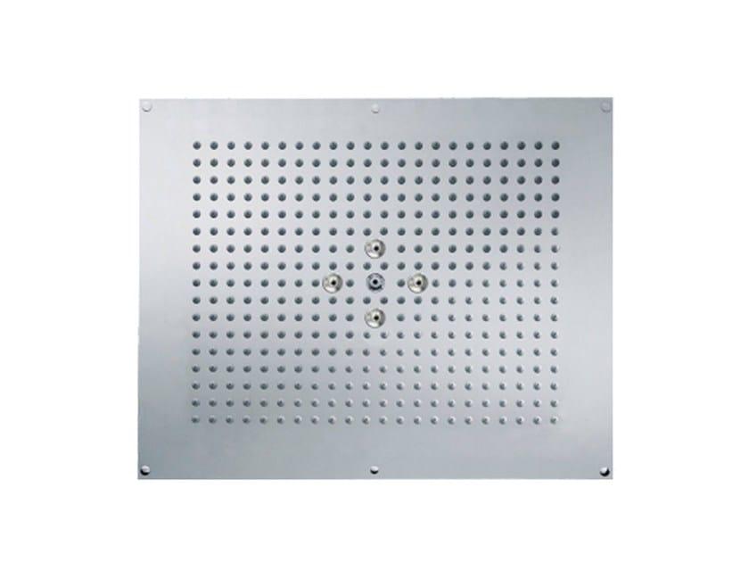 Ceiling mounted 2-spray rain shower SLIDE | Built-in overhead shower by rvb