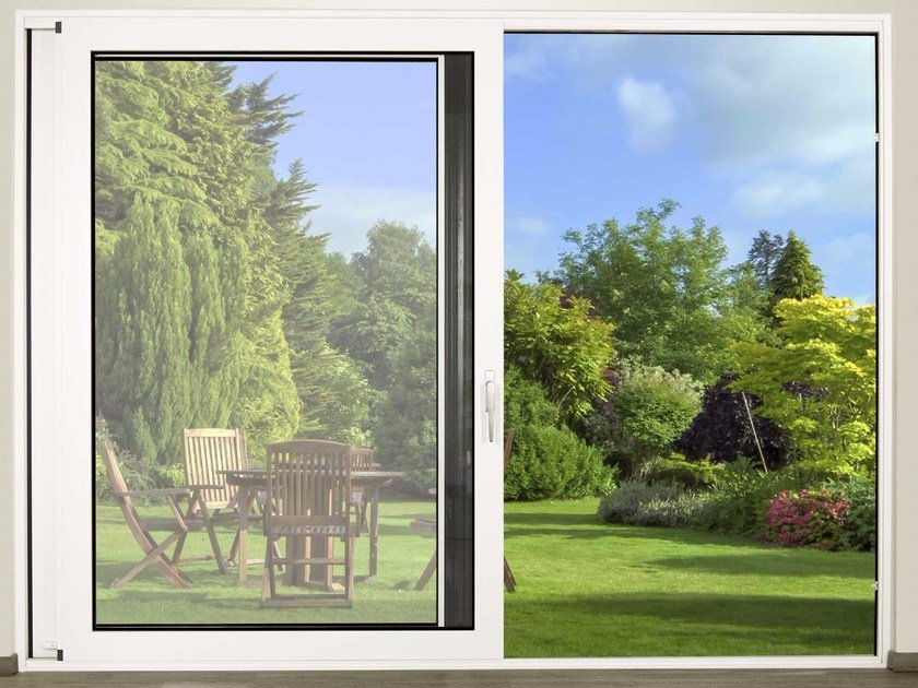 Finestra scorrevole in alluminio e vetro con triplo vetro DOMAL SLIDE C160 by DOMAL