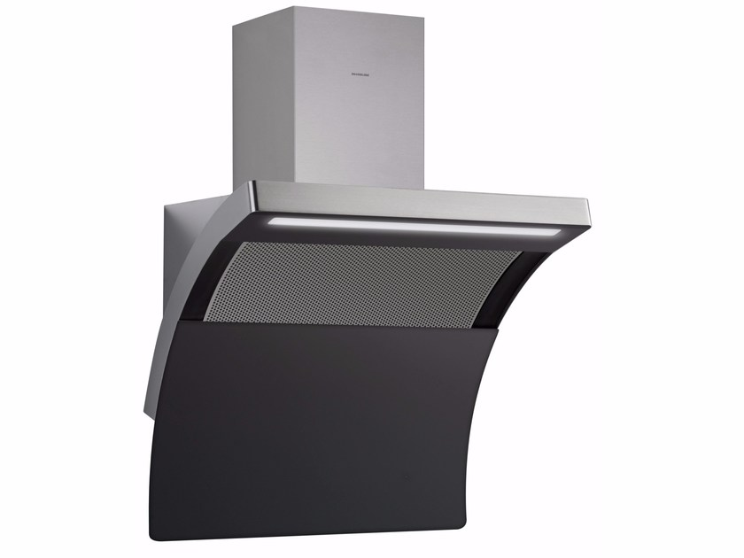 Wall-mounted aluminium cooker hood with integrated lighting SLIDE DOWN 3433 by Silverline