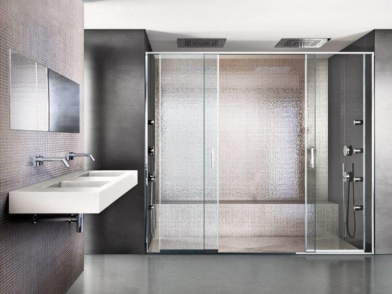 Shower cabin with sliding door SLIDE by MAKRO