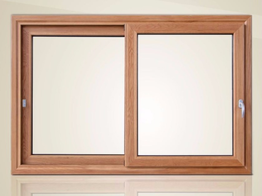 Aluminium and wood thermal break window SLIDE PLUS TT107 by Cos.Met.