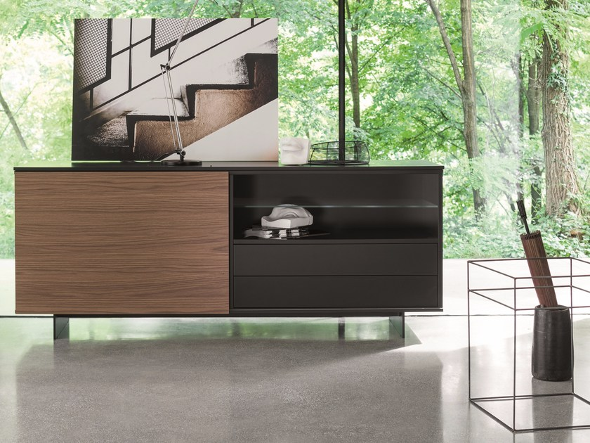 Sideboard with sliding doors with drawers SLIDE | Sideboard by Dall'Agnese