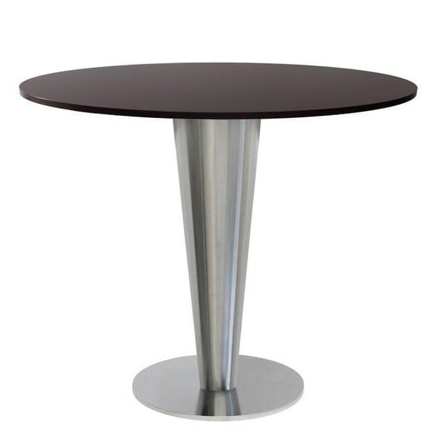 Stainless steel table base SLIGEL-40 by Vela Arredamenti