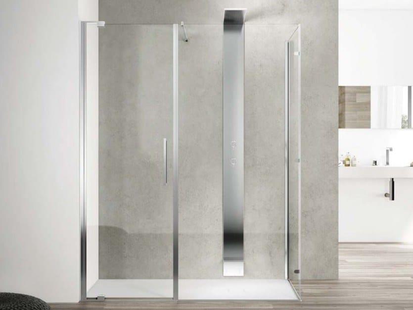 Corner glass shower cabin SLIM SLPL + SL2F By DISENIA