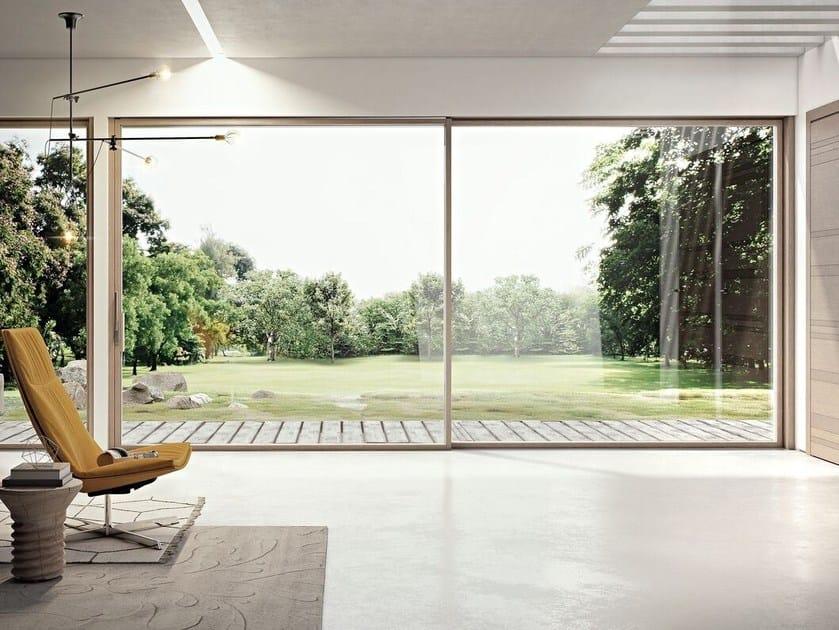 Aluminium and wood patio door SLIM 80 LA by Pail Serramenti