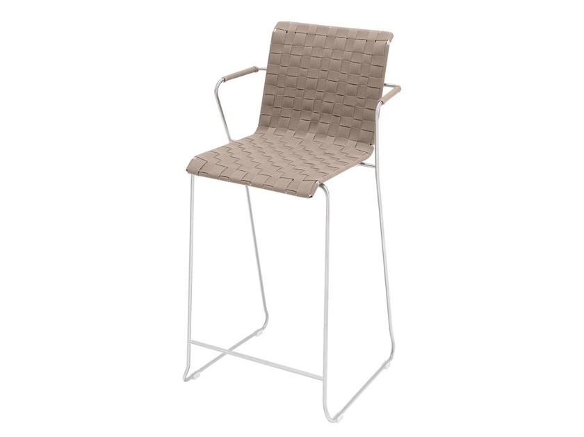 Sled base chair with armrests SLIM BELT   Chair by VITEO