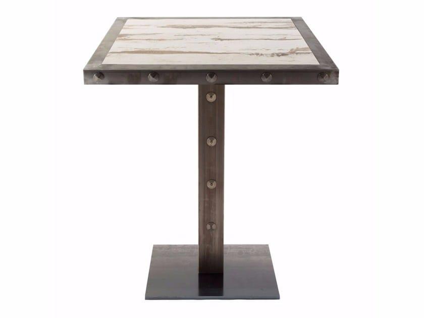 Square contract table SLIM BORG | Square table by Vela Arredamenti