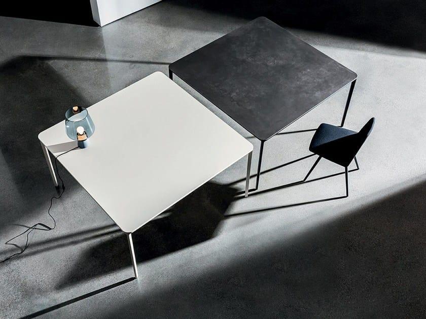 Square ceramic table SLIM CERAMIC by Sovet italia