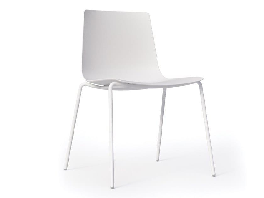 Polypropylene chair SLIM CHAIR 4 ARM -  89D by Alias