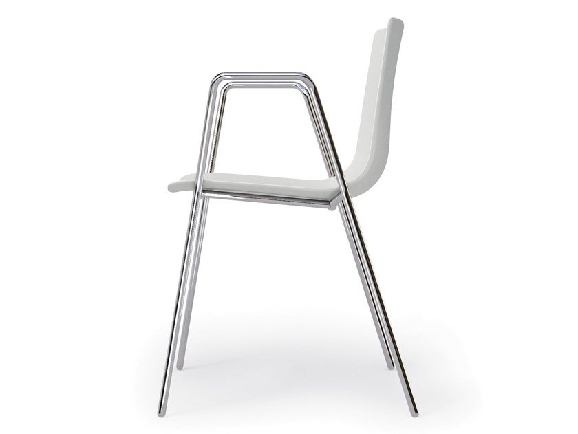 Sedia in polipropilene con braccioli SLIM CHAIR SLEDGE ARM - 89B by Alias
