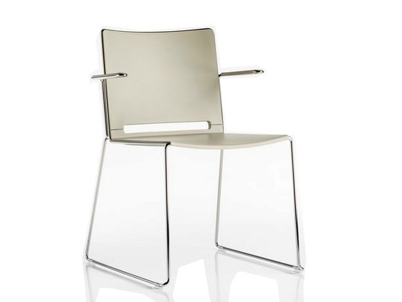 Plastic chair / training chair SLIM | Chair with armrests by Diemme