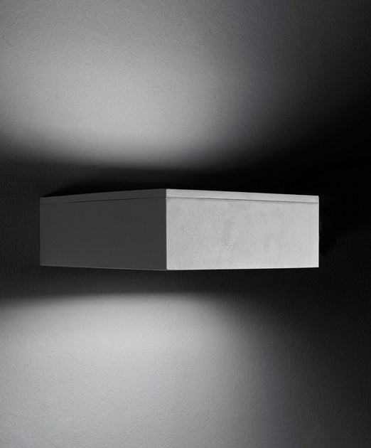Direct-indirect light die cast aluminium wall lamp SLIM F.8278 by Francesconi & C.