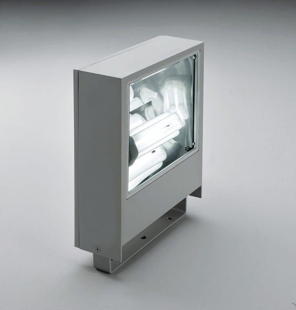 Fluorescent die cast aluminium Outdoor floodlight SLIM F.8298 by Francesconi & C.