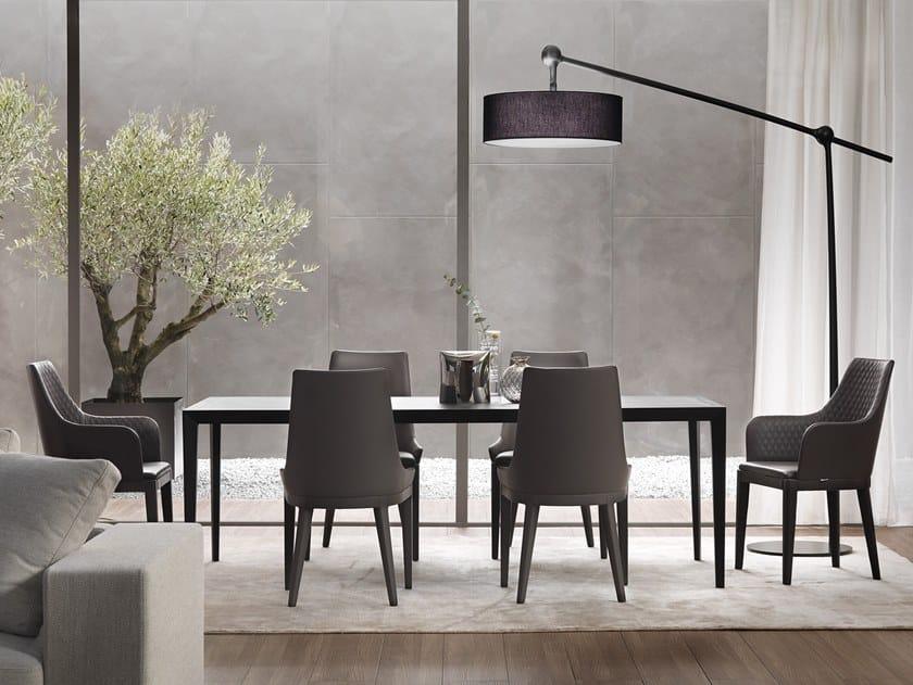 Rectangular oak dining table SLIM by Marelli