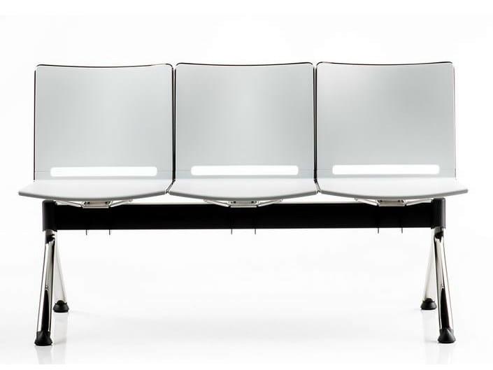 Freestanding plastic beam seating SLIM | Beam seating by Diemme