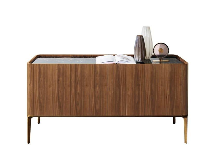 Wooden sideboard with doors SLIM   Sideboard by Sovet italia