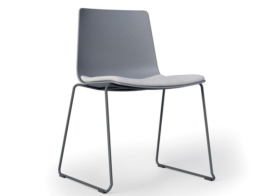 Sled base polypropylene chair SLIM | Sled base chair by Alias
