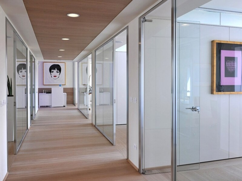 Tempered glass office partition SLIMBOX by ESTEL GROUP