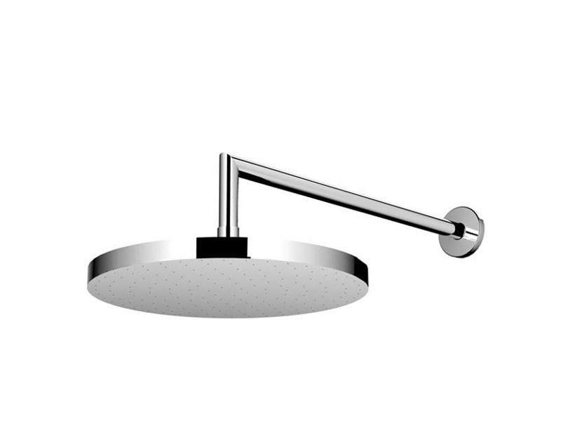 Wall-mounted stainless steel overhead shower with arm SLIMLINE WALL by JEE-O