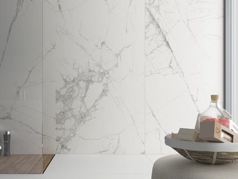 Rivestimento in gres porcellanato effetto marmo SLIMMKER SYROS by Inalco