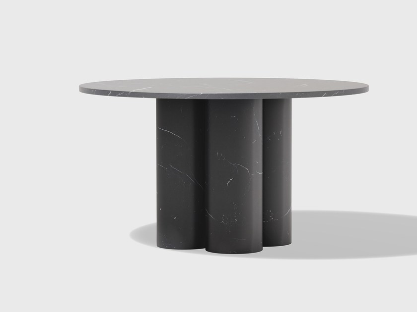Round marble table SLON by Matter Made