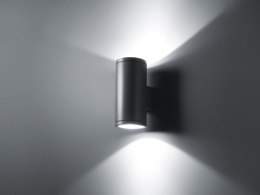 Metal Halide LED direct-indirect light wall lamp SLOT by SIMES