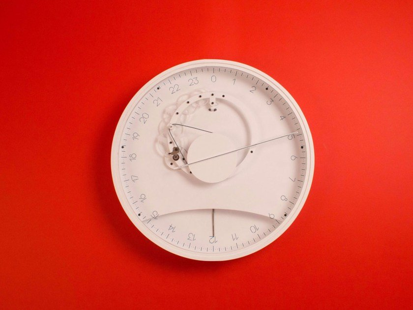Wall-mounted plastic clock SLOW by Meyer Objects