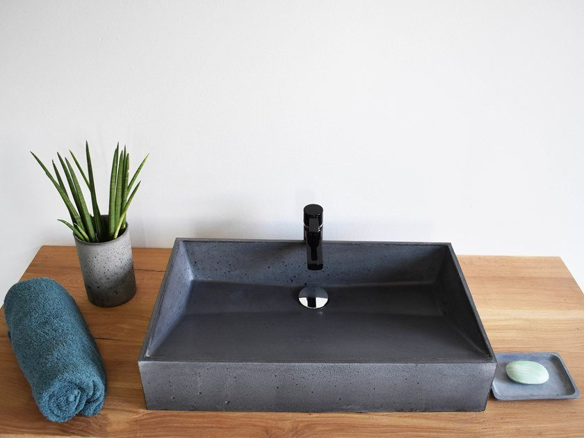 Countertop rectangular washbasin SLUICE by betton